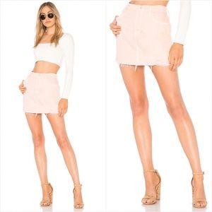 Mother The Vagabond fray mini skirt